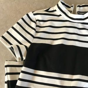 Express b&w striped dress